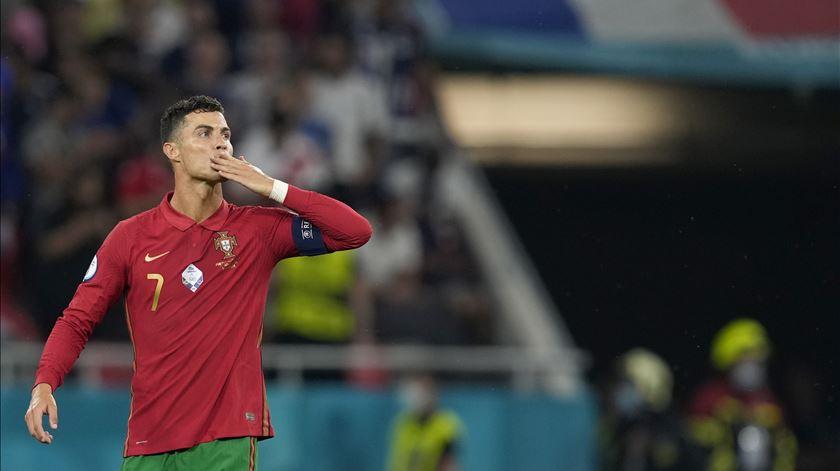 Cristiano Ronaldo manda um beijinho. Foto: Hugo Delgado/Lusa