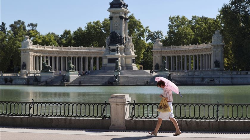 Jardim do Retiro em Madrid. Foto: Mariscal/EPA