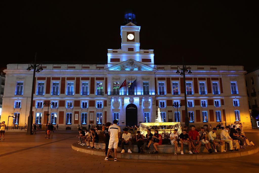 Praça de Cibeles celebra entrada de Paseo del Prado e Jardim do Bom Retiro na lista da UNESCO. Foto: Kiko Huesca/EPA