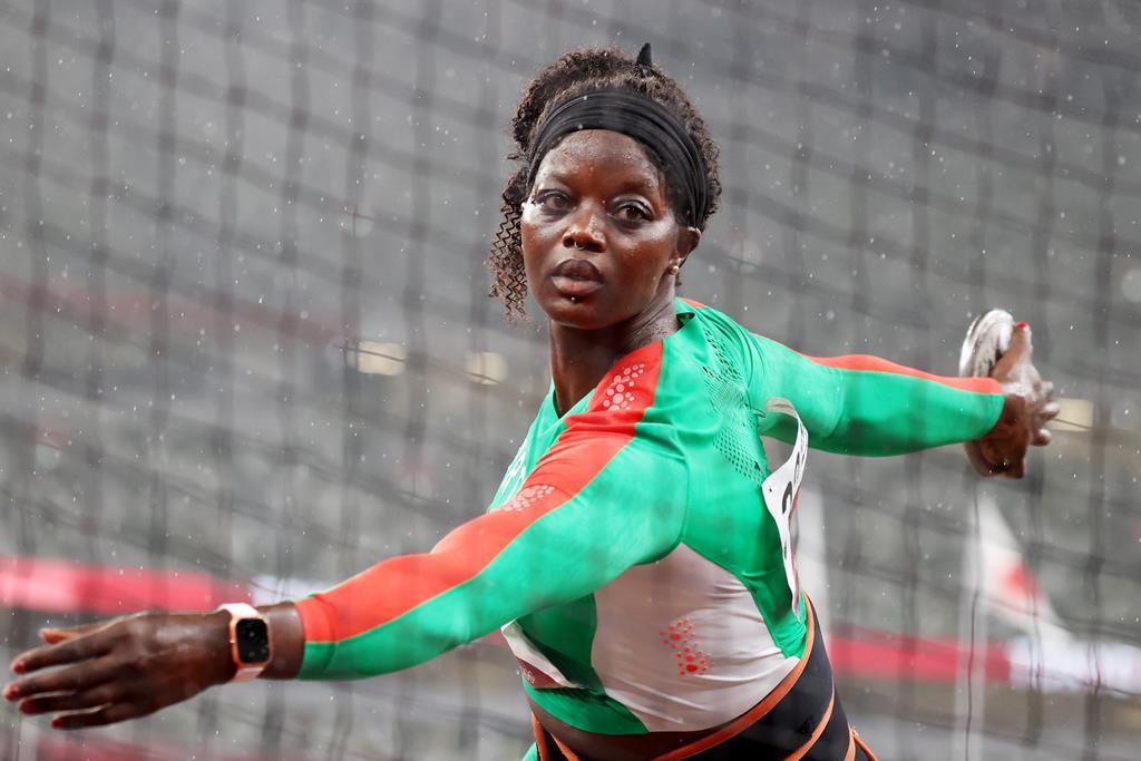 Liliana Cá lançou para o melhor resultado de sempre de Portugal. Foto: Diego Azubel/EPA