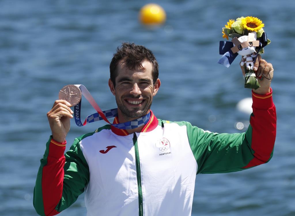Fernando Pimenta conquistou a medalha de bronze em K1 1000 metros de canoagem nos Jogos Olímpicos de Tóquio 2020 Foto: Kiyoshi Ota/EPA
