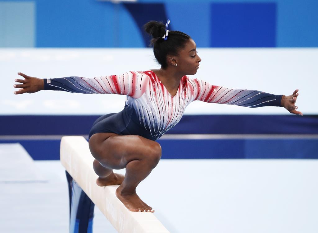 Simone Biles voltou a competir. Foto: Tatyana Zenkovich/EPA