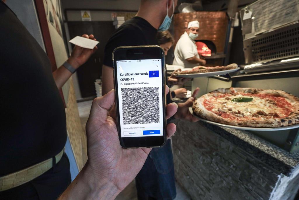 certificado digital Covid-19 em Itália Foto: Jessica Pasqualon/EPA
