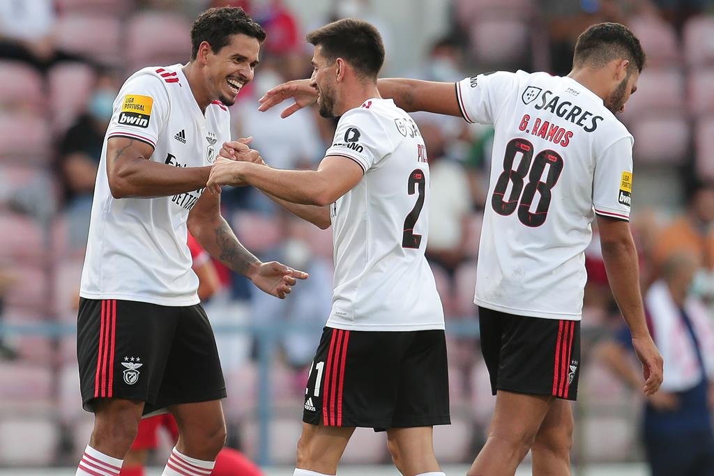 Lucas Veríssimo marcou dois golos em agosto. Foto: Manuel Fernando Araujo/Lusa