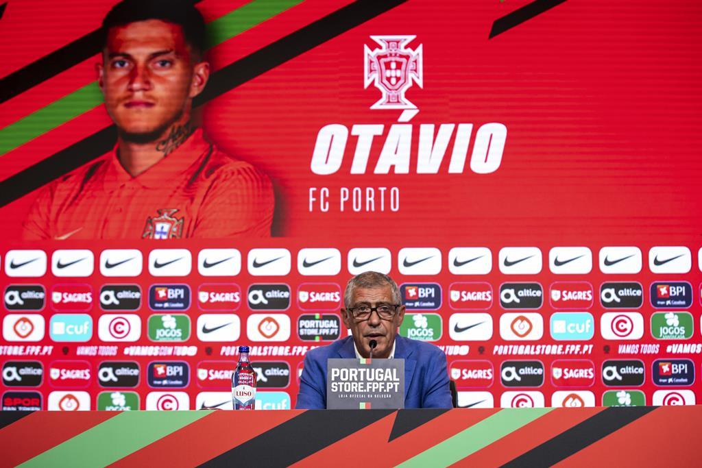 A primeira chamada de Otávio à seleção. Foto: José Sena Goulão/Lusa