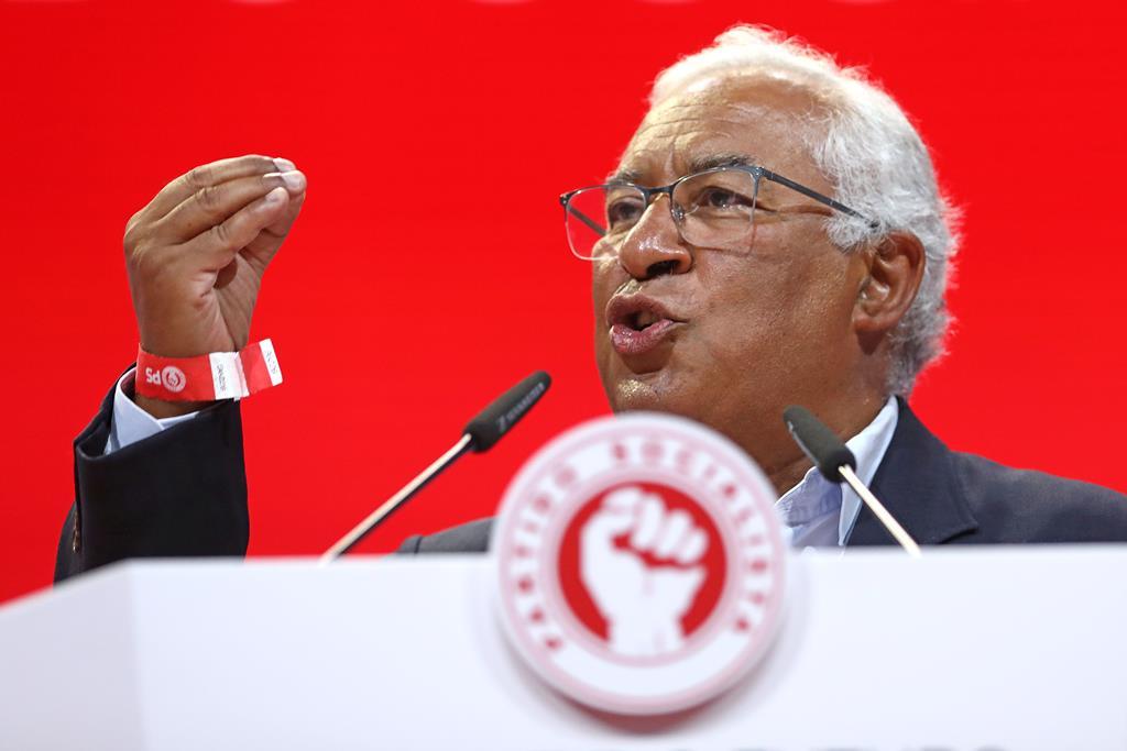 O secretário-geral António Costa, no XXIII Congresso Nacional do Partido Socialista. Foto: António Pedro Santos/Lusa