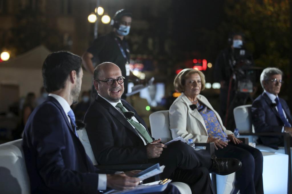 Vladimiro Feliz durante um debate com os candidatos à Câmara do Porto. Foto: Estela Silva/Lusa