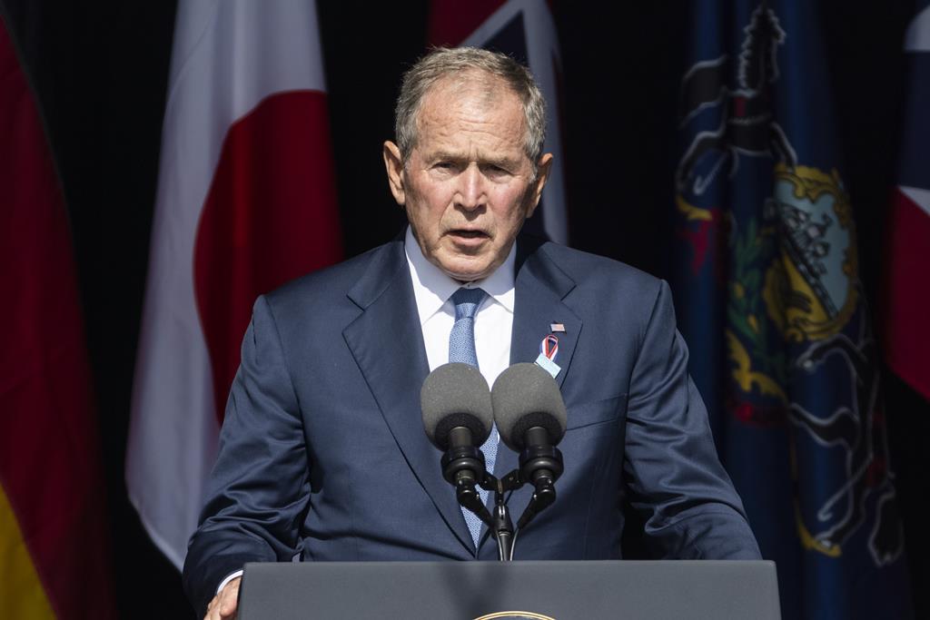 George W. Bush nas celebrações dos 20 anos do 11 de setembro Foto: Jim Lo Scalzo/EPA