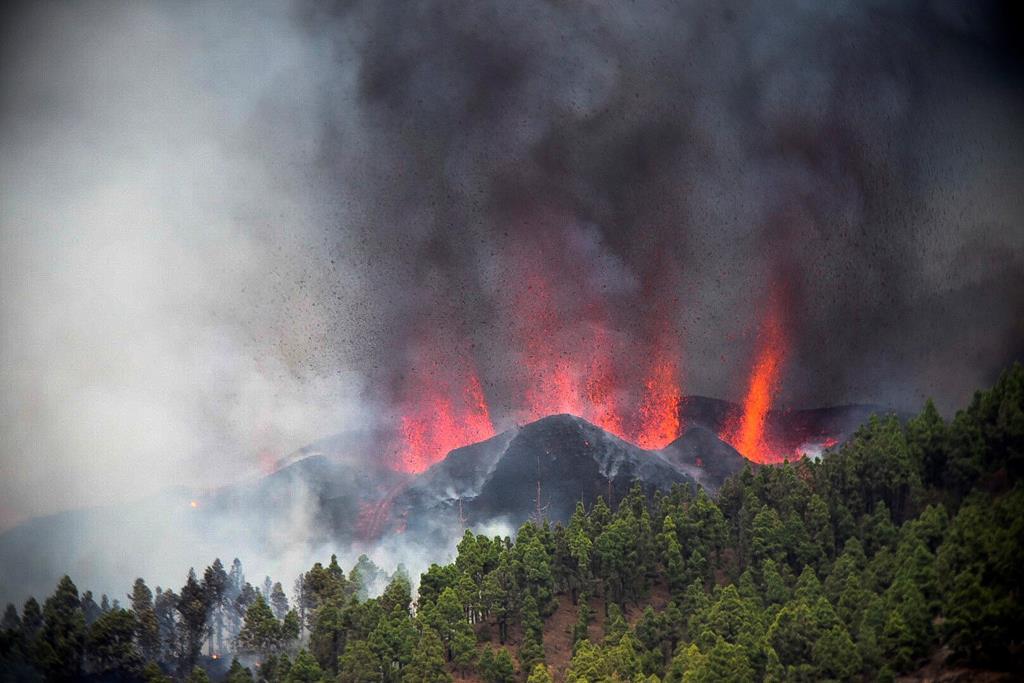 Erupção vulcão La Palma Foto: Miguel Calero/EPA