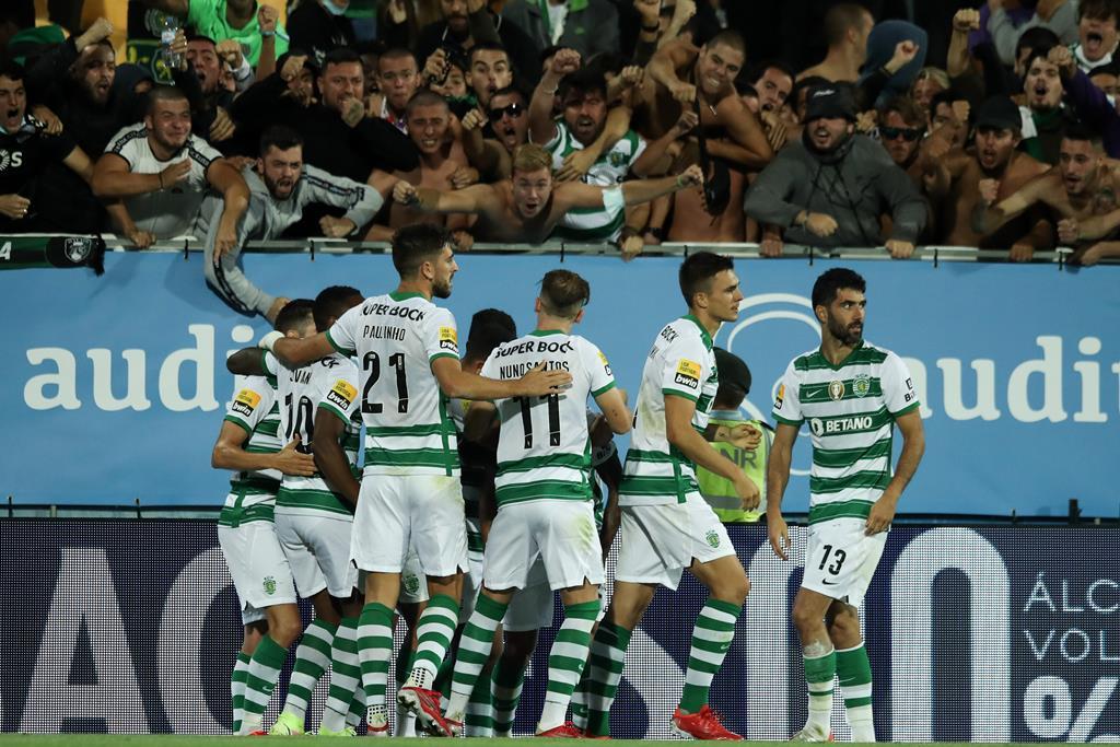 Sporting regressou às vitórias frente ao Estoril. Foto: Manuel De Almeida/Lusa.