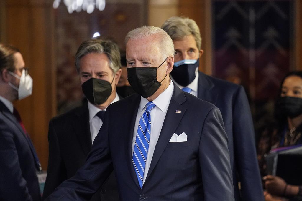 Joe Biden na 76ª Assembleia Geral da ONU, em Nova Iorque. Foto: John Minchillo / Pool/EPA