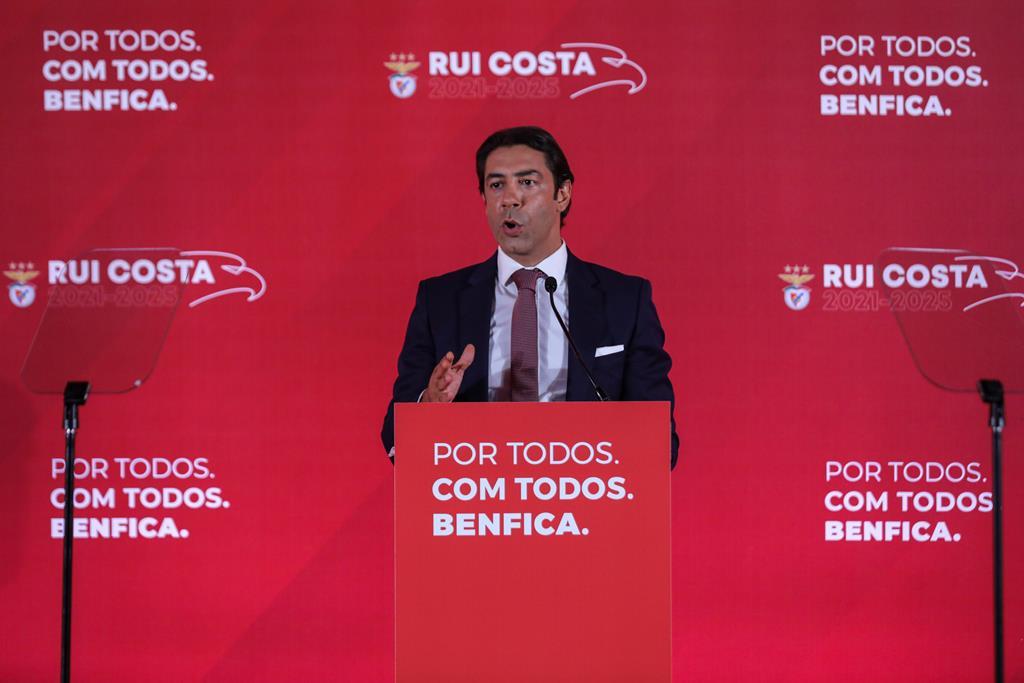 Rui Costa anuncia candidatura à presidência do Benfica. Foto: Miguel A. Lopes/Lusa