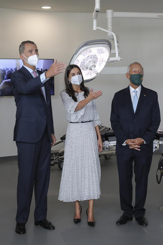 Reis de Espanha e Marcelo Rebelo de Sousa na inauguração do Centro do Cancro do Pâncreas Botton-Champalimaud. Foto: Nuno Veiga/EPA