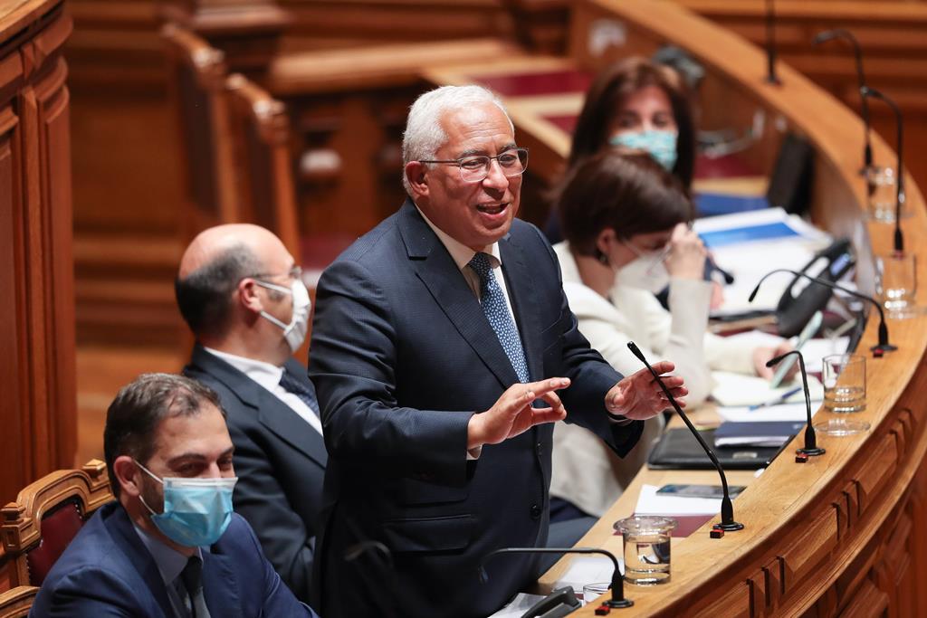 António Costa no debate parlamentar sobre política geral, na Assembleia da República, em Lisboa. Mário Cruz/LLusa