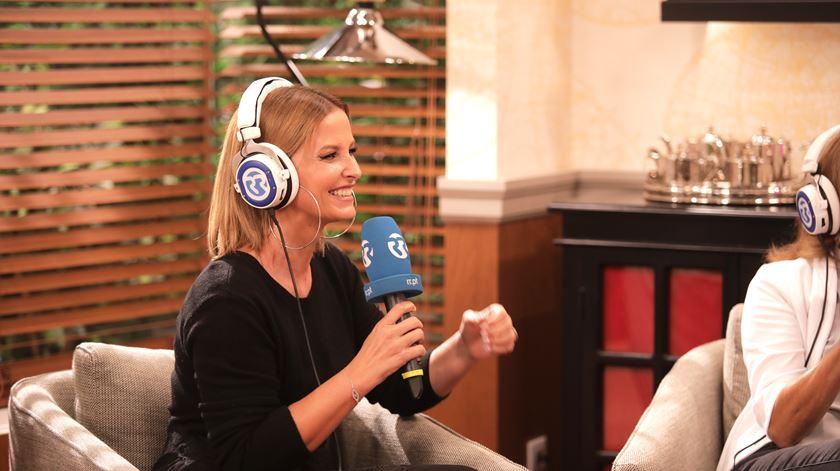 Cristina Ferreira na SIC, entrevistada pelo programa As Três da Manhã. Foto: Sofia Freitas Moreira/RR