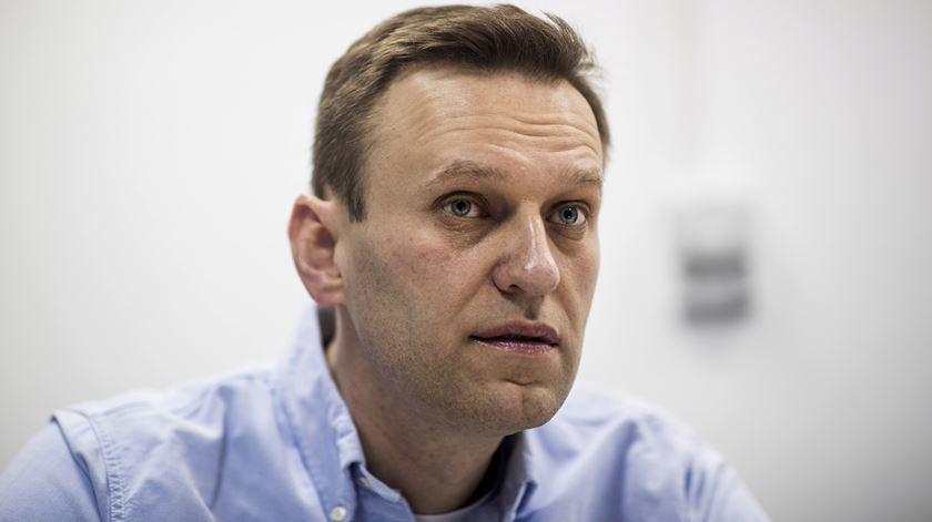 Navalny, de 44 anos, estava em coma desde 20 de agosto, após o que médicos alemães dizem ter sido envenenamento por Novichok. Foto: Yevgeny Feldman/EPA