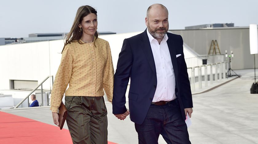 Anders Holch Povlsen com a mulher, Anne Holch Povlsen, em maio de 2018. Foto: Tariq Mikkel Khan/EPA