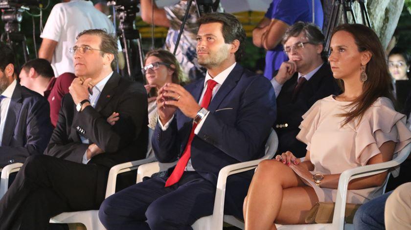André Ventura com Pedro Passos Coelho, na apresentação da candidatura autárquica. Foto: André Ventura