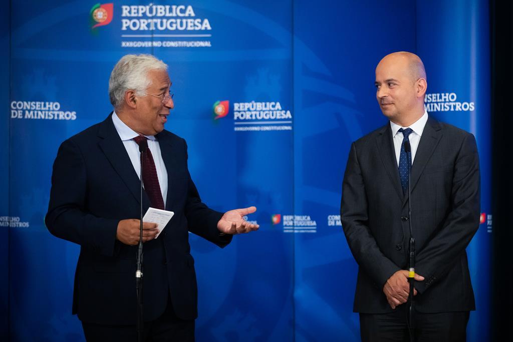 António Costa e o ministro das Finanças, João Leão. Foto: José Sena Goulão/Lusa
