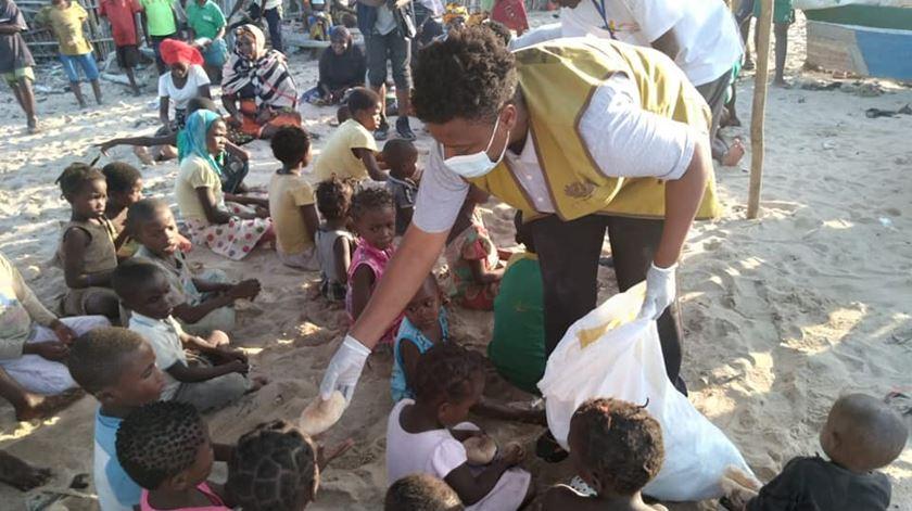 Ajuda aos deslocados de Cabo Delgado. Foto: Facebook da Irmã Blanca