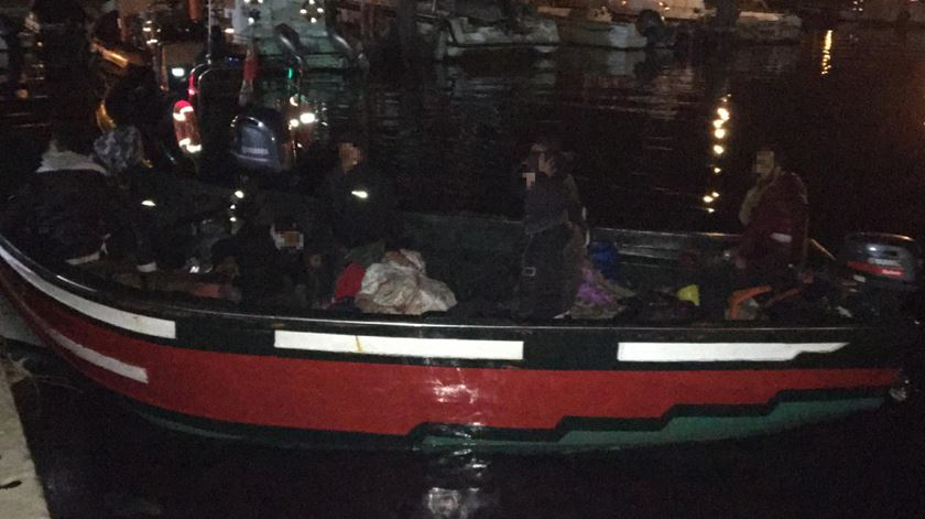 Já a 29 de janeiro outro barco tinha chegado a Olhão. Foto: Autoridade Marítima Nacional