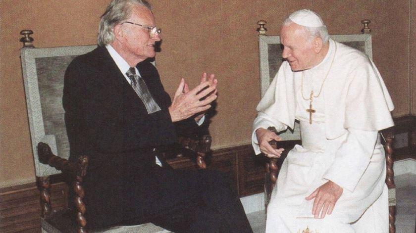Billy Graham e o seu amigo João Paulo II. Foto: DR