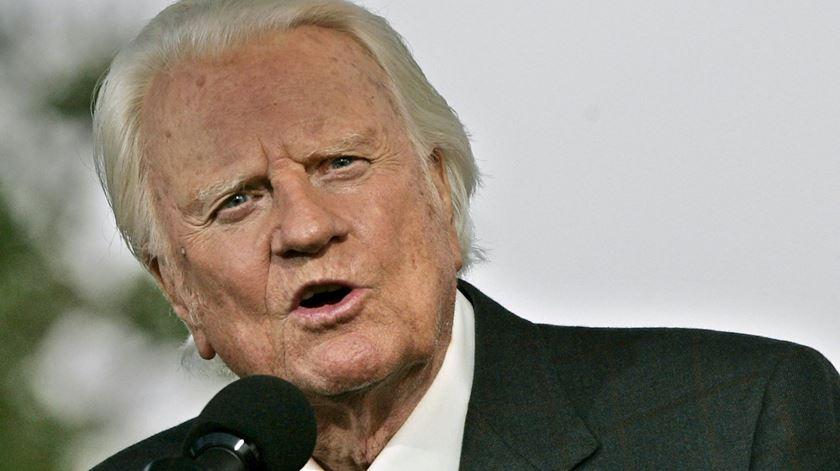 Bily Graham morreu aos 99 anos. Foto: Peter Foley/EPA