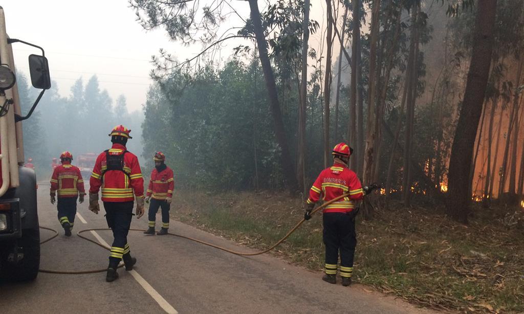 Pedrógão vai ficar sempre na memória de quem combateu o incêndio. Foto: Joana Bourgard/RR