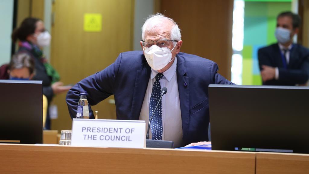 Borrell convidou o chefe da diplomacia ucraniana para a reunião. Foto: François Walschaerts/EPA