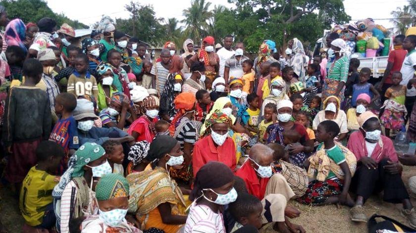 Deslocados de Cabo Delgado, Moçambique. Foto: Facebook da irmã Blanca