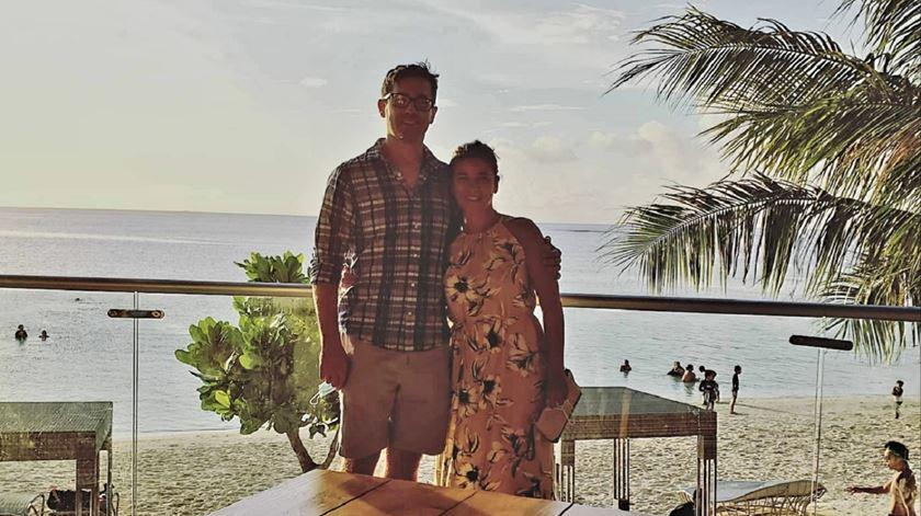 Carlota Plantier LeFon e o seu marido em Guam. Foto: CPL