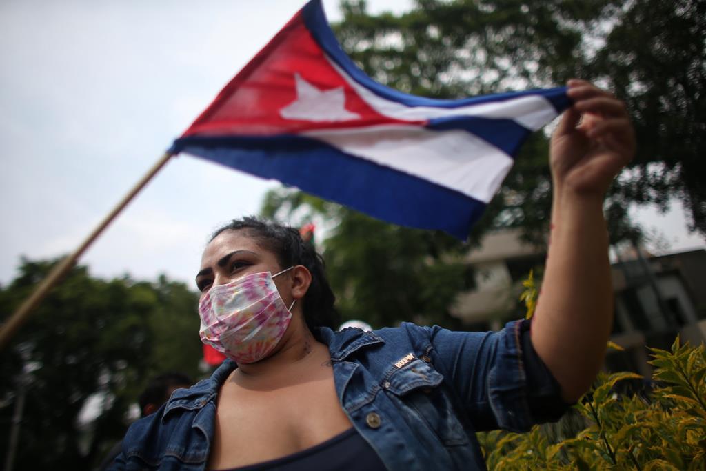Manifestações em Cuba Foto: EPA