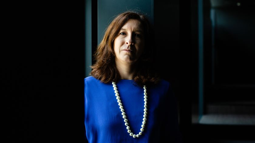 Cecília Meireles com vergonha dos 1% nas sondagens. Foto: José Fernandes/Público