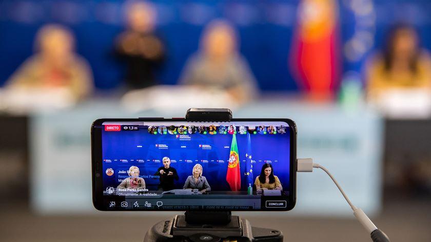 As conferências de imprensa de atualização dos números da pandemia marcaram o estado de emergância em Portugal. Foto: José Sena Goulão/ Lusa