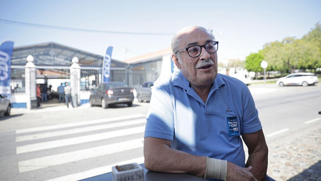 Constantino José, apoiante CDU. Foto: Inês Rocha/RR