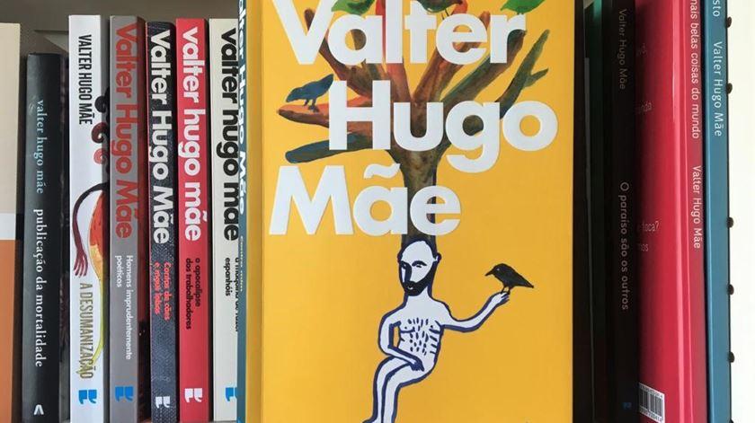 """""""Contra mim"""", o novo livro de Valter Hugo Mãe, com ilustração de Agostinho Santos. Foto: Maria João Costa/RR"""