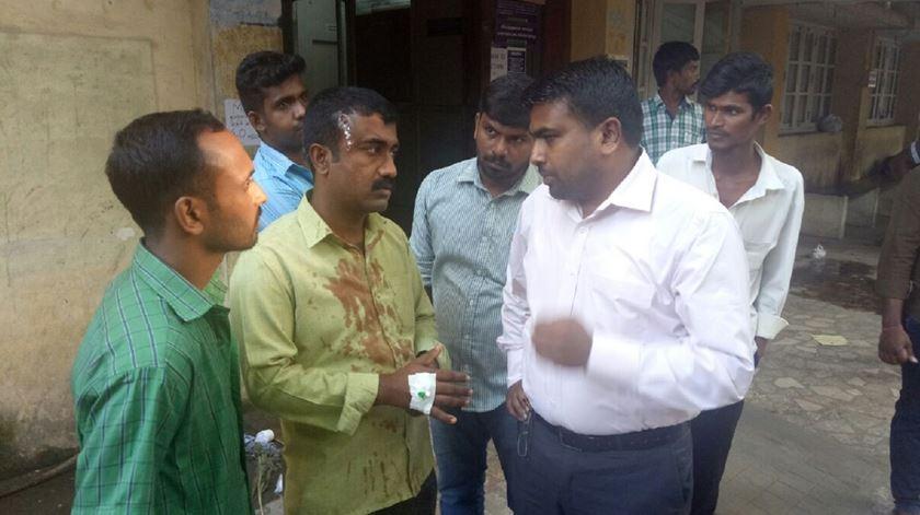Cristão ferido na Índia. Teme-se aumento de casos de perseguição. Foto: ADF International