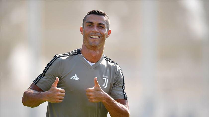 Cristiano Ronaldo já começou a fazer treino individual, na Madeira. Foto: Juventus