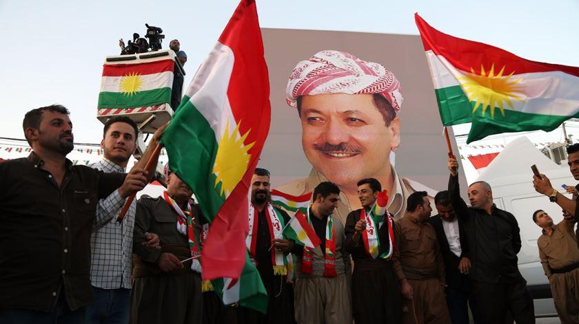 Os tempos já não são de festa. Curdos agora querem negociar com Bagdad. Foto: Gailan Haji/EPA