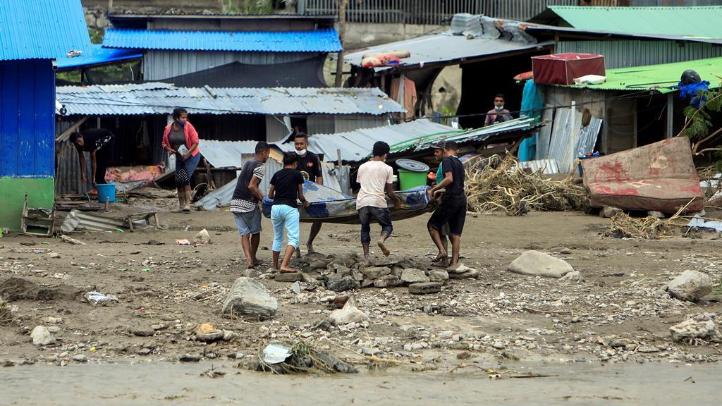 Em Díli, há registo de 13 mortos. Foto: António Dasiparu/EPA