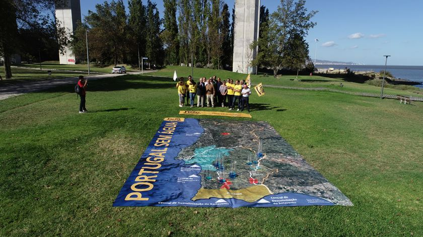 A campanha do Nós, Cidadãos!, esta terça-feira, no Parque das Nações, em Lisboa. Foto: Nós, Cidadãos!