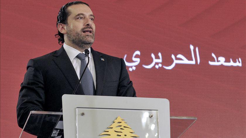 Saad al-Hariri demitiu-se. Resta saber se por vontade própria ou obrigado. Foto: Dalati Nohra/EPA