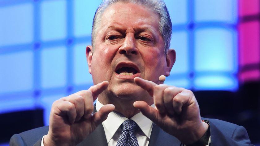 Al Gore é co convidado principal da conferência. Foto: Miguel A. Lopes/Lusa