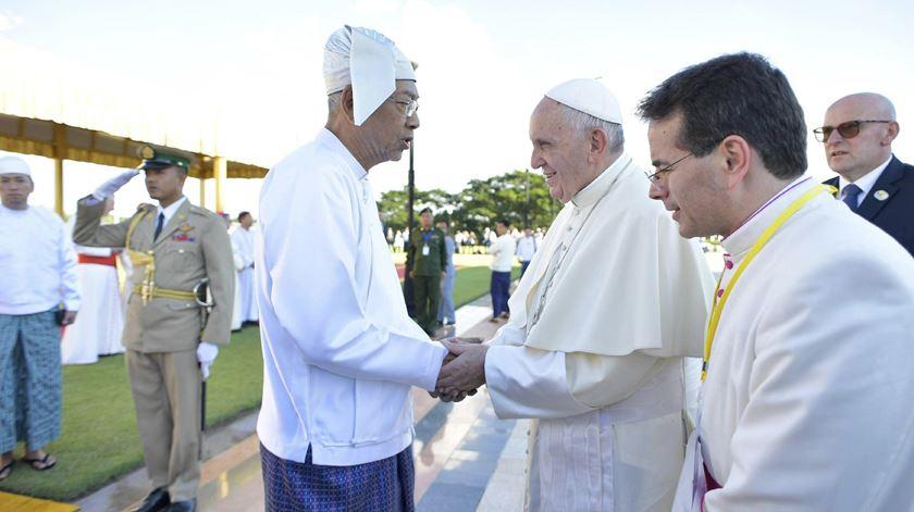 Encontro com Htin Kyaw, presidente de Myanmar, em Naypyitaw. Foto: L
