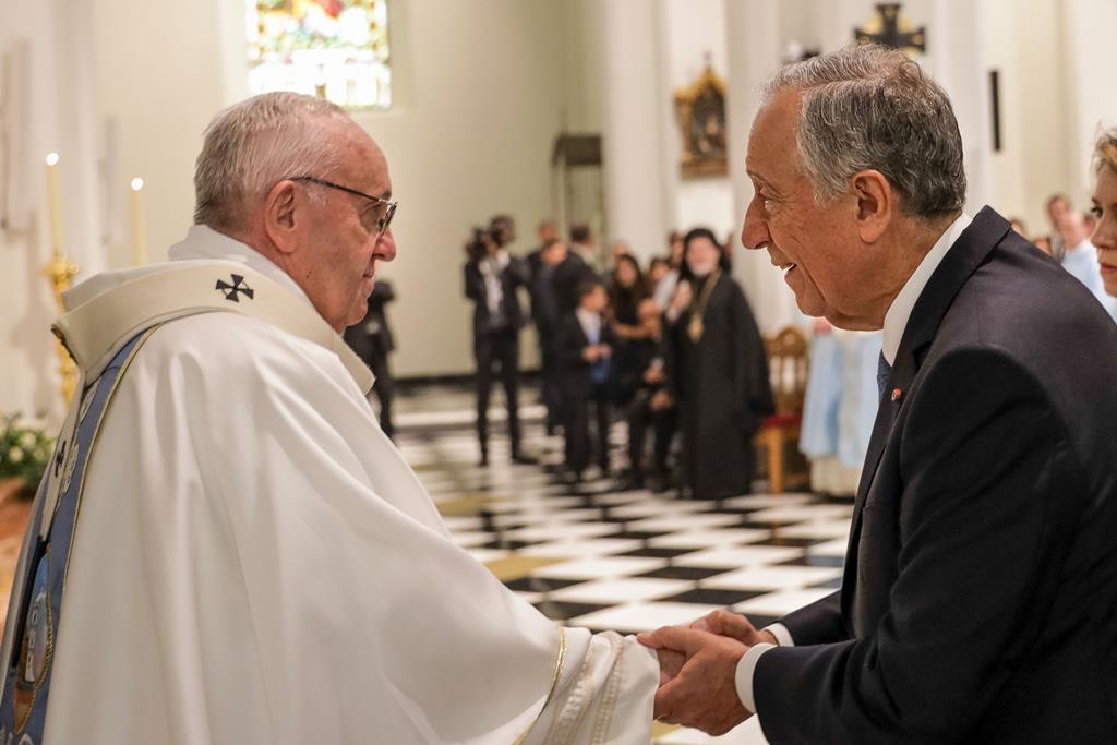 Marcelo voltará a estar com o Papa Francisco no início do seu novo mandato. Foto: Paulo Novais/Lusa