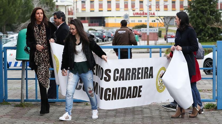 Protesto de enfermeiros.  Foto: Paulo Novais/ Lusa
