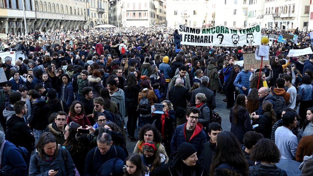 Florença, Itália. Foto: Claudio Giovannini/EPA