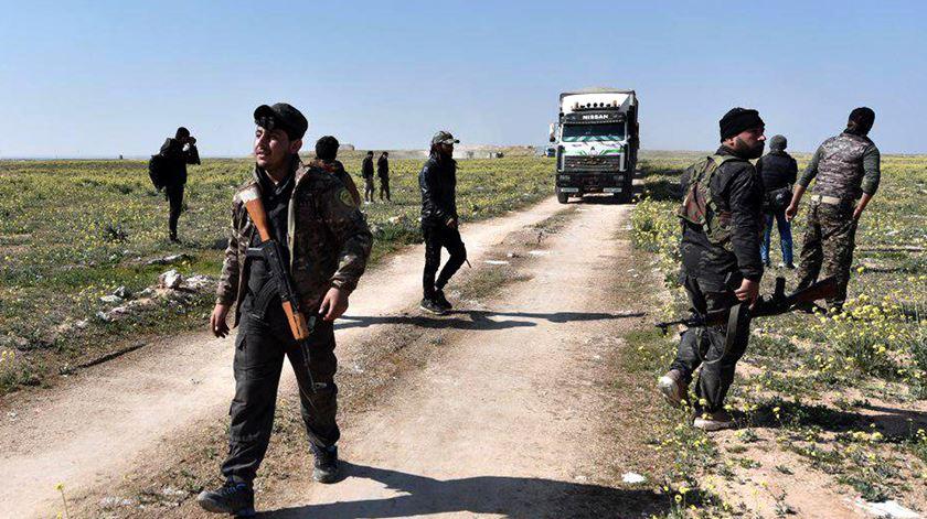 Forças Democráticas da Síria derrotam Estado Islâmico em Baghouz. Foto; Murtaja Lateef/EPA