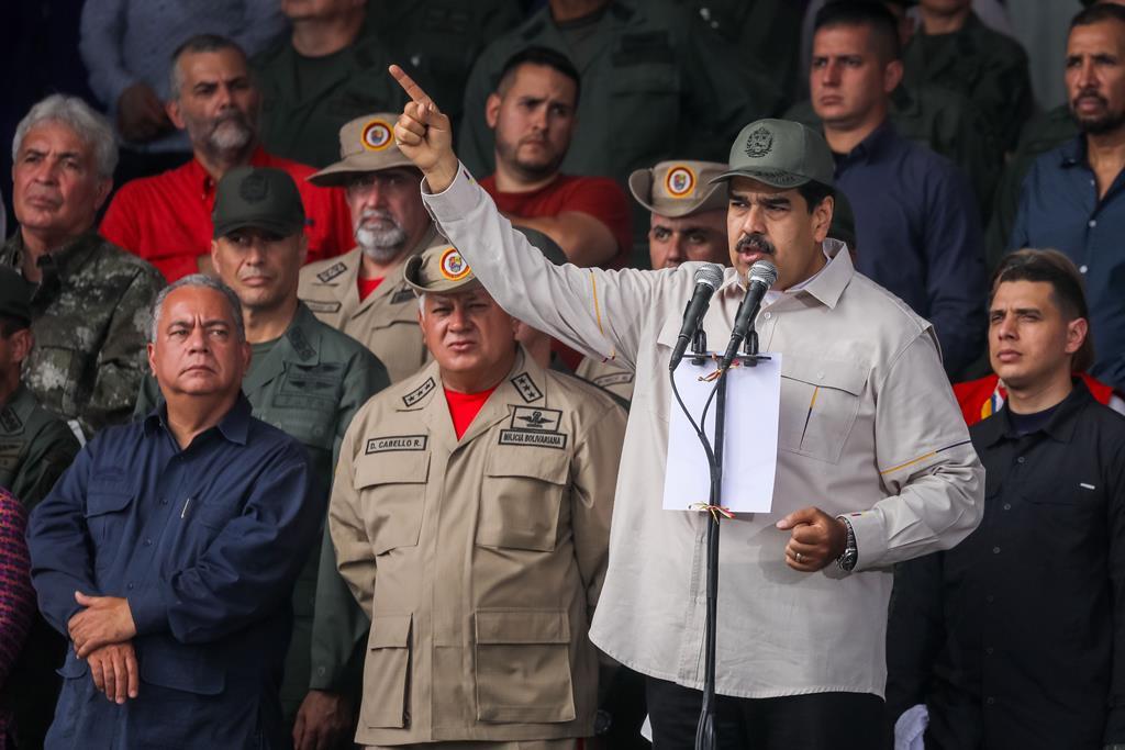 Nicolás Maduro culpa empresários por crise económica na Venezuela. Foto: Miguel Gutierrez/EPA