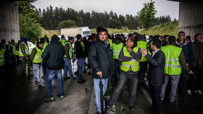 Última greve dos motoristas de transporte de matérias perigosas durou três dias. Foto: Mário Cruz/Lusa